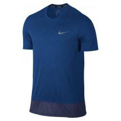 Nike Koszulka Do Biegania M Nk Brthe Rapid Top Ss L. Niebieskie koszulki sportowe męskie Nike, z krótkim rękawem. W wyprzedaży za 79.00 zł.