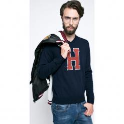 Tommy Hilfiger - Sweter Matthew. Czarne swetry przez głowę męskie Tommy Hilfiger, z dzianiny, z okrągłym kołnierzem. W wyprzedaży za 359.90 zł.