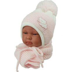 Czapka niemowlęca z szalikiem CZ+S 045B różowa. Czapki dla dzieci marki Reserved. Za 40.78 zł.