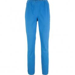 Spodnie ze stretchem, bez zamka w talii STRAIGHT bonprix lodowy niebieski. Niebieskie spodnie materiałowe damskie bonprix. Za 74.99 zł.