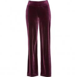 Spodnie aksamitne bonprix czarny bez. Fioletowe spodnie materiałowe damskie bonprix, w paski. Za 119.99 zł.