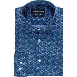 Koszula MICHELE KDFE000244. Niebieskie koszule męskie Giacomo Conti, paisley, z bawełny, z klasycznym kołnierzykiem. Za 169.00 zł.