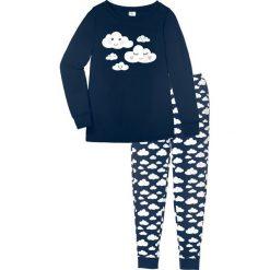 Piżama, bawełna organiczna bonprix ciemnoniebieski z nadrukiem. Piżamy damskie marki bonprix. Za 74.99 zł.