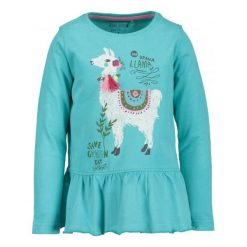 Blue Seven Koszulka Dziewczęca Z Lamą 92 Turkusowa. Niebieskie bluzki dla dziewczynek Blue Seven. Za 39.00 zł.