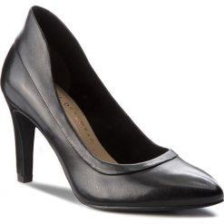 Półbuty TAMARIS - 1-22419-21 Black Leather 003. Czarne półbuty damskie Tamaris, z materiału. W wyprzedaży za 219.00 zł.