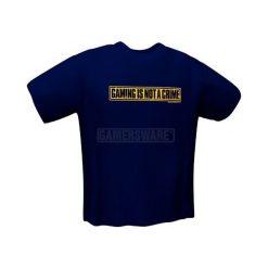 GamersWear NOT A CRIME T-Shirt granatowa (L) ( 5050-L ). Niebieskie t-shirty i topy dla dziewczynek GamersWear. Za 92.45 zł.