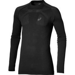 Asics Seamless Longsleeve 134605-0904. Czarne bluzki z długim rękawem męskie Asics, z materiału. W wyprzedaży za 129.99 zł.