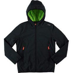 Kurtka softshellowa w kolorze czarnym. Czarne kurtki i płaszcze dla chłopców marki CMP Kids. W wyprzedaży za 195.95 zł.