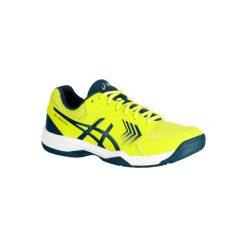 Buty tenisowe Asics Gel Dedicate męskie. Żółte buty sportowe męskie Asics. W wyprzedaży za 169.99 zł.