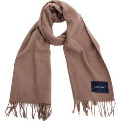 Szal CALVIN KLEIN - Classic Wool Scarf W K60K604720 007. Brązowe szaliki i chusty damskie Calvin Klein, z materiału. Za 279.00 zł.