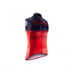 Koszulka bez rękawów na rower ROADC 900 męska. Czerwone koszulki sportowe męskie B'TWIN, z materiału, bez rękawów. Za 139.99 zł.
