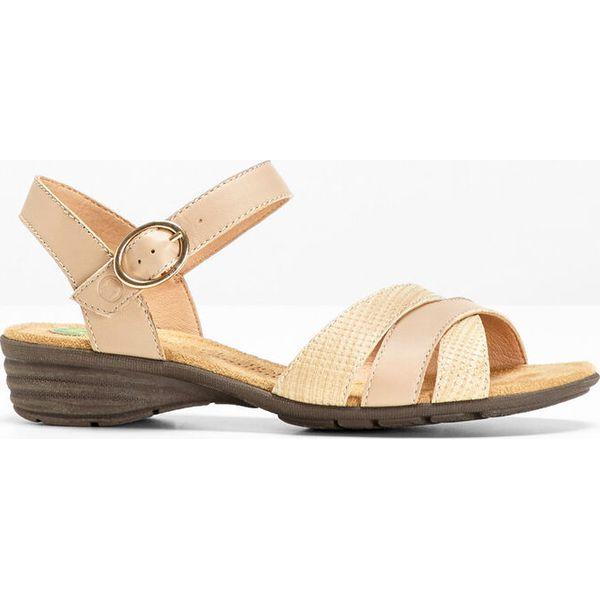 d13a8e3320e06c Wygodne sandały skórzane bonprix cielisy - Sandały damskie bonprix ...