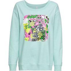 Bluza z nadrukiem bonprix morski pastelowy z nadrukiem. Bluzy damskie marki KALENJI. Za 74.99 zł.