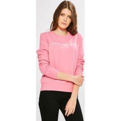 Calvin Klein Jeans - Bluza. Różowe bluzy damskie Calvin Klein Jeans, z jeansu. W wyprzedaży za 279.90 zł.