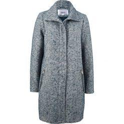 Luźniejszy płaszcz z materiału o wyglądzie wełny bonprix ciemnoniebiesko-srebrny melanż. Płaszcze damskie marki FOUGANZA. Za 239.99 zł.
