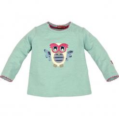 """Bluza """"Eule"""" w kolorze zielonym. Zielone bluzy dla dziewczynek Bondi, z aplikacjami, z bawełny. W wyprzedaży za 45.95 zł."""