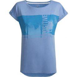 T-shirt damski TSD612 - niebieski - Outhorn. Niebieskie t-shirty damskie Outhorn, z materiału. W wyprzedaży za 24.99 zł.