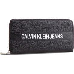 Duży Portfel Damski CALVIN KLEIN JEANS - Logo Banner Large Ziparound K40K400840 001. Czarne portfele damskie Calvin Klein Jeans, z jeansu. Za 299.00 zł.
