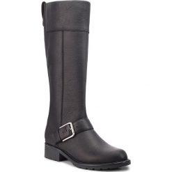 Oficerki CLARKS - Orinoco Jazz 261381964  Black Warmlined Leather. Czarne kozaki damskie Clarks, ze skóry. W wyprzedaży za 439.00 zł.