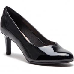 Półbuty CLARKS - Dancer Nolin 261371814  Black Synthetic. Czarne półbuty damskie Clarks, z materiału, eleganckie. W wyprzedaży za 229.00 zł.