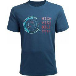 T-shirt męski TSM604 - denim - Outhorn. Szare t-shirty męskie Outhorn, z bawełny. W wyprzedaży za 29.99 zł.