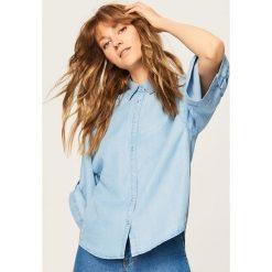 Jeansowa koszula - Niebieski. Niebieskie koszule damskie Reserved, z jeansu. W wyprzedaży za 59.99 zł.