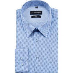 Koszula SIMONE slim KDNS000400. Niebieskie koszule męskie Giacomo Conti, z materiału, z klasycznym kołnierzykiem. Za 149.00 zł.
