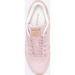 Reebok Classic - Buty Leather EBK. Szare obuwie sportowe damskie Reebok Classic, z gumy. W wyprzedaży za 269.90 zł.