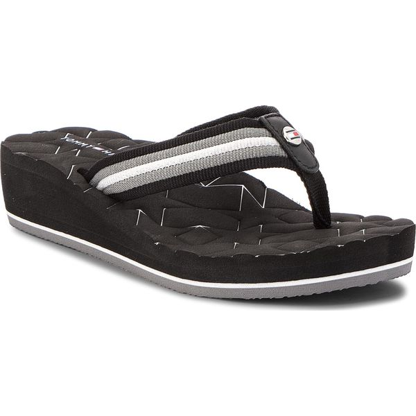 a00b79910054c Japonki TOMMY HILFIGER - Comfort Mid Beach Sandal FW0FW02367 Black ...