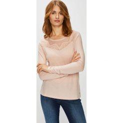 Roxy - Bluzka. Szare bluzki damskie Roxy, z bawełny, casualowe, z okrągłym kołnierzem. W wyprzedaży za 149.90 zł.