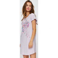 Triumph - Koszula piżamowa. Szare koszule nocne damskie Triumph, z nadrukiem, z bawełny. Za 89.90 zł.