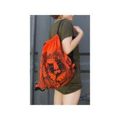 Plecak LEW. Brązowe plecaki damskie Dwie lewe ręce, z nadrukiem, z bawełny. Za 149.00 zł.