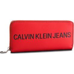 Duży Portfel Damski CALVIN KLEIN JEANS - Sculpted Zip Around K40K400408 623. Czerwone portfele damskie Calvin Klein Jeans, z jeansu. Za 299.00 zł.