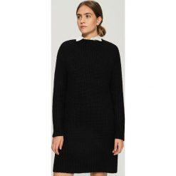 Swetrowa sukienka - Czarny. Czarne sukienki damskie Sinsay. Za 79.99 zł.