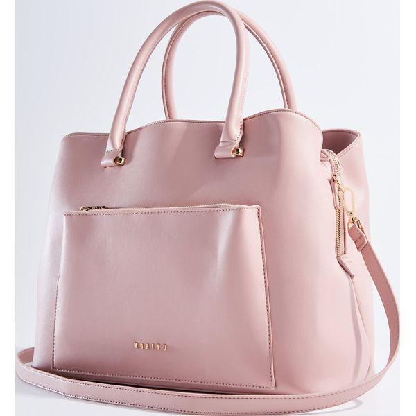 99e659f90b75b Torebka typu city bag odpinanym paskiem różowy torebki do ręki jpg 600x600  Torba typu city bag