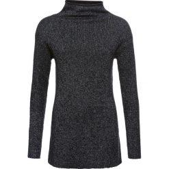 Sweter dzianinowy z lureksową nitką bonprix czarno-srebrny. Swetry damskie marki bonprix. Za 99.99 zł.