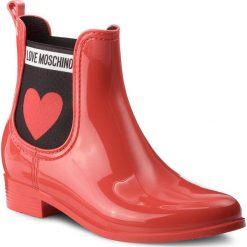 Kalosze LOVE MOSCHINO - JA21013G16IJ0500 Rosso. Czerwone kozaki damskie Love Moschino, z materiału. Za 479.00 zł.