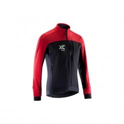 Kurtka na rower MTB XC. Czarne kurtki męskie B'TWIN, z elastanu. Za 219.99 zł.