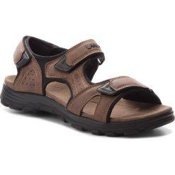 Sandały LANETTI - MS17011-1 Brązowy. Brązowe sandały męskie Lanetti, z materiału. Za 79.99 zł.