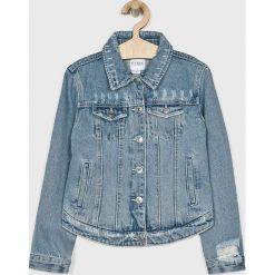 Guess Jeans - Kurtka dziecięca 136-175 cm. Niebieskie kurtki i płaszcze dla dziewczynek Guess Jeans, z aplikacjami, z bawełny. Za 399.90 zł.