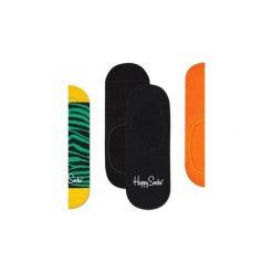 Skarpetki Happy Socks -  3-Pak Liner (ZEB18-7000). Pomarańczowe skarpety męskie Happy Socks, w kolorowe wzory, z bawełny. Za 63.90 zł.