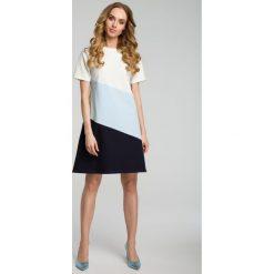 Sukienka trapezowa moe373. Niebieskie sukienki dla dziewczynek MOE, na lato. Za 129.90 zł.