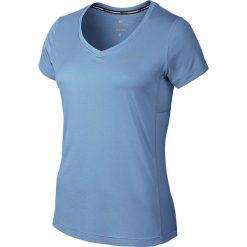 Nike Koszulka damska Miler V-neck niebieska r. XS (686917 422). Bluzki damskie Nike. Za 107.00 zł.