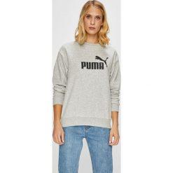 Puma - Bluza. Szare bluzy damskie Puma, z nadrukiem, z bawełny. W wyprzedaży za 169.90 zł.