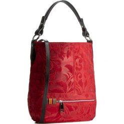 Torebka CREOLE - RBI10131  Czerwony Wzór/Czarny. Czerwone torebki do ręki damskie Creole, ze skóry. W wyprzedaży za 299.00 zł.