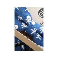 Mucha Piracki Styl. Niebieskie krawaty i muchy Edyta kleist, w grochy, z jeansu. Za 99.00 zł.