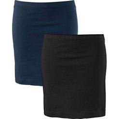 Spódnica shirtowa ze stretchem (2 szt.) bonprix ciemnoniebieski + czarny. Niebieskie spódnice damskie bonprix. Za 35.98 zł.