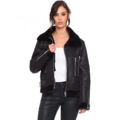 """Kurtka """"Johnny"""" w kolorze czarnym. Czarne kurtki damskie Cosy Winter, ze skóry. W wyprzedaży za 272.95 zł."""