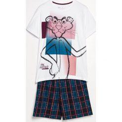 Piżama z szortami Różowa Pantera - Bordowy. Czerwone piżamy męskie Reserved, z motywem zwierzęcym. Za 79.99 zł.
