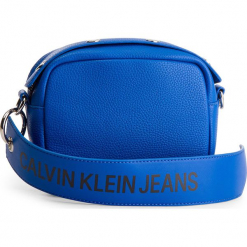Torebka CALVIN KLEIN JEANS - Logo Banner Camera Bag K40K400807 455. Niebieskie listonoszki damskie Calvin Klein Jeans, z jeansu. Za 299.00 zł.